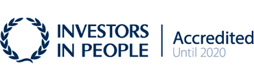Investors in People. Accredited until 2020.