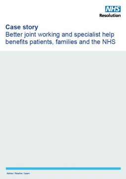 Link to Better joint working and specialist help benefits patients, families and the NHS resource