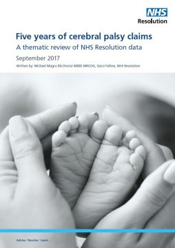 Link to Five years of cerebral palsy claims resource