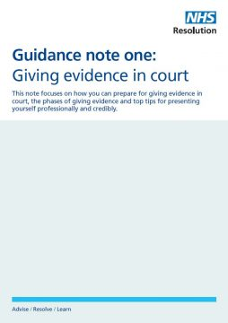 Link to Giving evidence in court resource