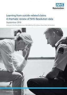 Link to Learning from suicide-related claims resource
