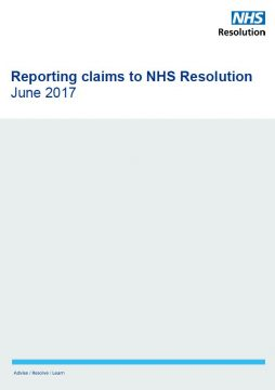 Link to Claims reporting guidelines resource