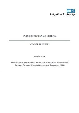 Link to Property Expenses Scheme (PES) rules resource