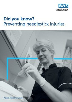 Link to Preventing needlestick injuries resource