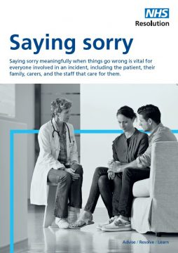 Link to Saying sorry resource