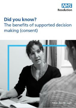 Link to The benefits of supported decision making (consent) resource