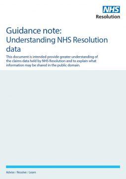 Link to Understanding NHS Resolution data resource