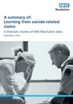 Link to Learning from suicide-related claims – the summary resource