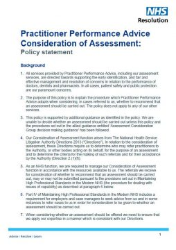 Link to Consideration of assessment policy statement resource