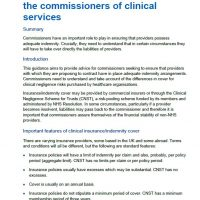Read more: Insurance/indemnity guidance for the commissioners of clinical services