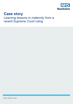 Link to Learning lessons in maternity from a recent Supreme Court ruling resource