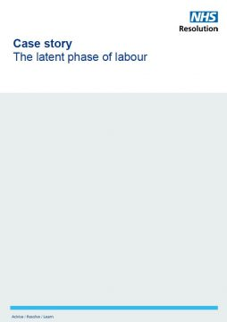Link to Latent phase of labour case resource