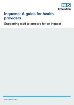 Link to Inquests: A guide for health providers resource