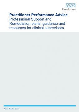 Link to Professional Support and Remediation plans: guidance and resources for clinical supervisors resource