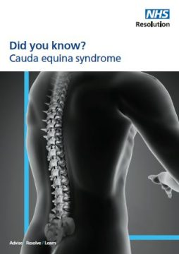 Link to Cauda equina syndrome resource