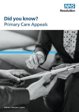 Link to Primary Care Appeals – who we are and what we do resource
